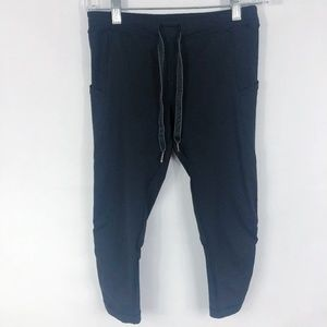 Lululemon | Tie Front Cropped Leggings in Black